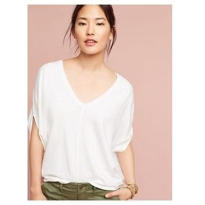Anthropologie Noelie V-Neck Dolman Top in Ivory